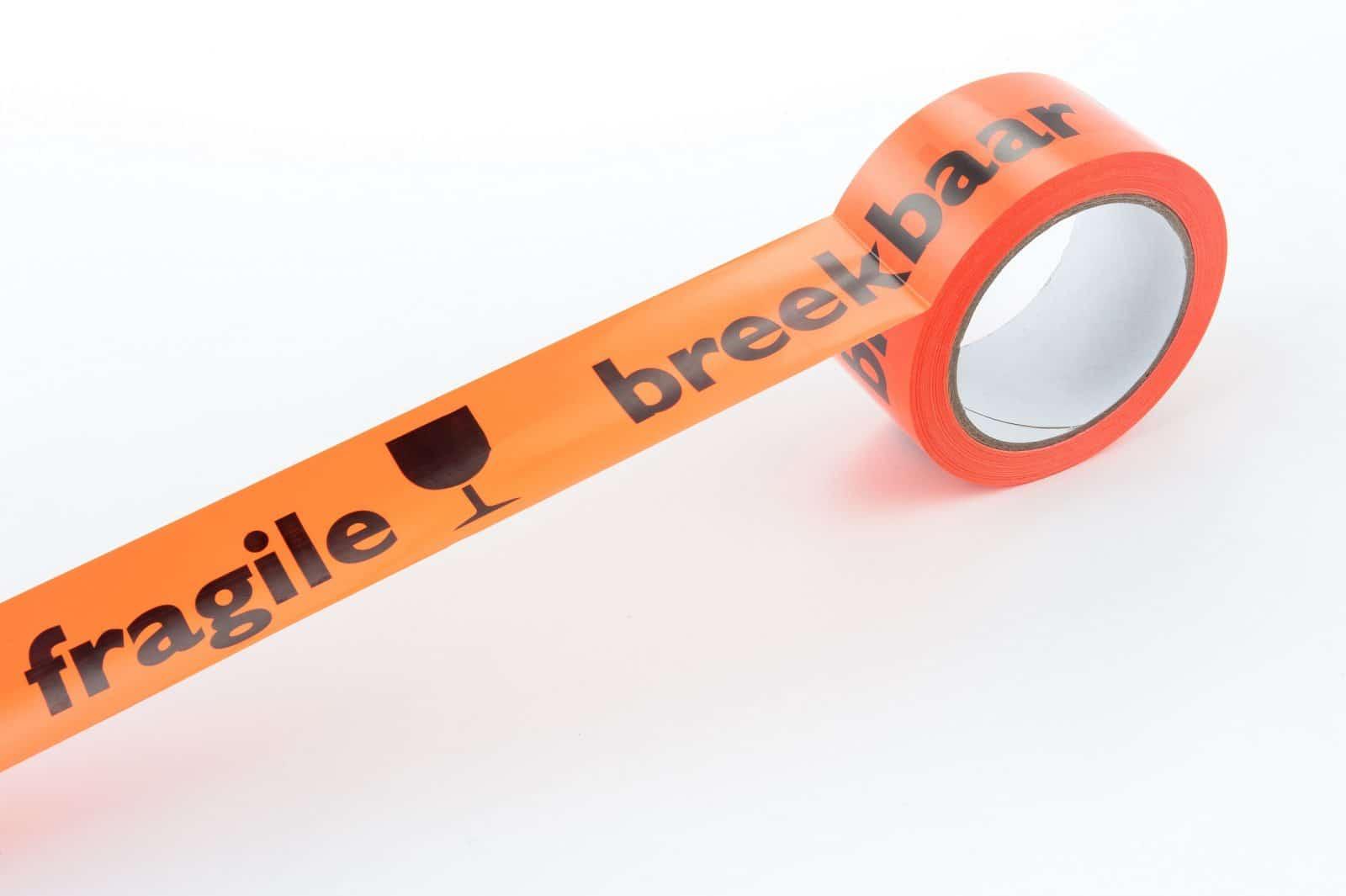 Tape oranje breekbaar